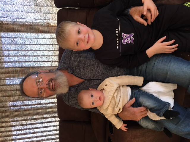 Dan Berns with his grandson, Eli, and another child