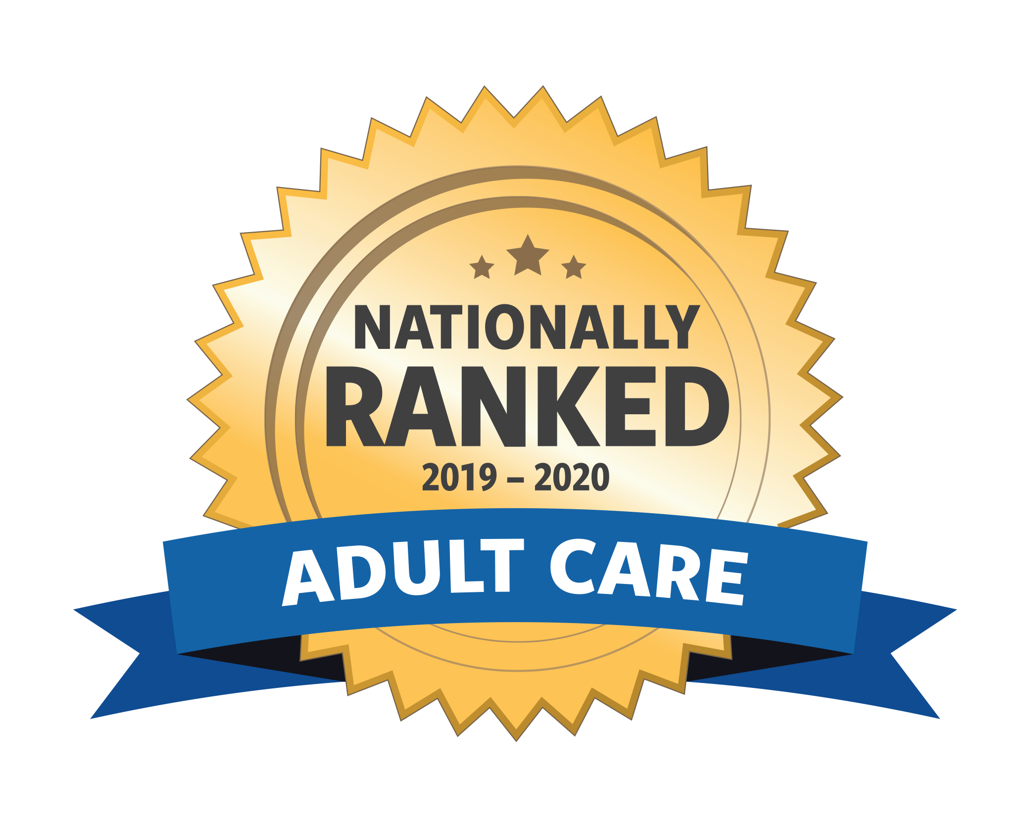 Nationally Ranked Adult Care Badge
