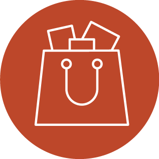 Illustration of a full shopping bag