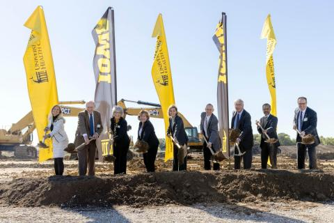 Groundbreaking at UI Hospitals & Clinics new campus at Forevergreen Road on Thursday, October 14, 2021