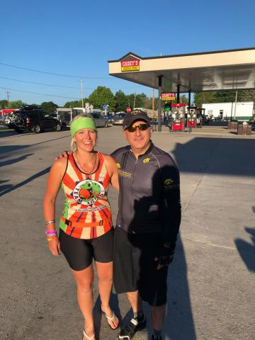 Cassim M. Igram, MD, and Gretchen McLain on RAGBRAI