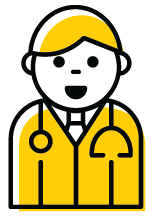 Icon image of a medical provider