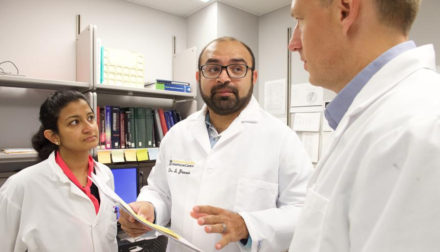Cancer specialists conferring