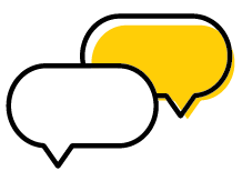 Icon image of two conversation bubbles