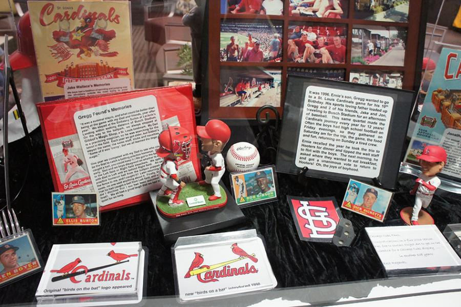 A collection of historical sports memorabilia