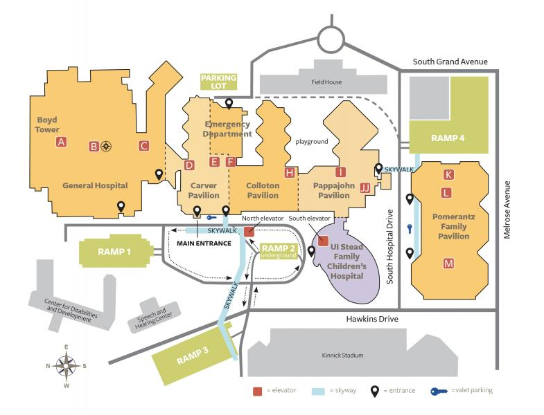 U Of Iowa Map.Parking And Map University Of Iowa Hospitals Clinics