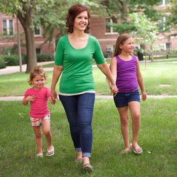 Whitney Paul with her children
