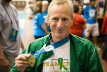 Bill Klahn with his 2016 Transplant Games medal