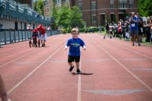 Cooper Vozza runs in the 2016 Transplant Games