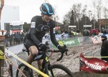 Corey Coogan Cisek participates in cyclocross