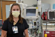 Emily Sargent, RN in the emergency room