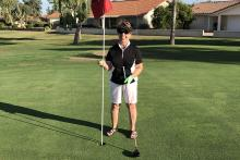 Pat Knebel on the golf course
