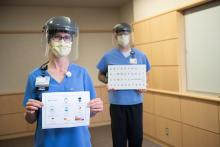 Colleen Wieland and Brian Peterson, speech-language pathologists in the Department of Otolaryngology