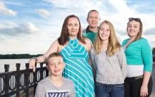 Tania Justus and her family