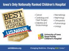 Nationally Ranked Children's Hospital