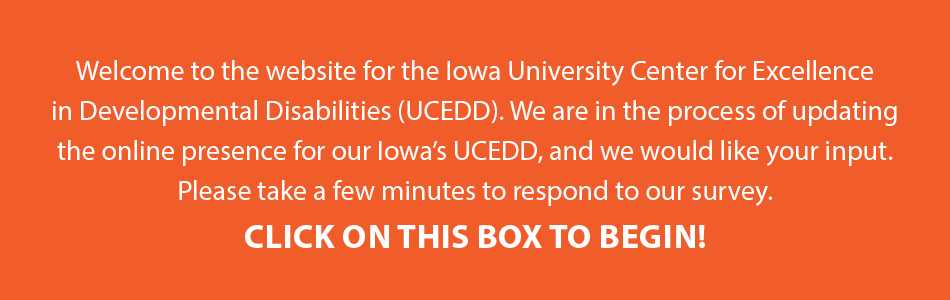 Text box - link to UCEDD survey